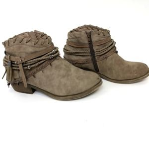 Jellypop Womens 8 Ankle Boots Renne Boho Chic
